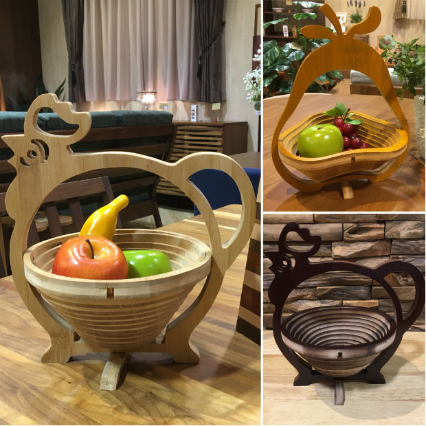 雑貨 FOLDING BAMBOO BASKET
